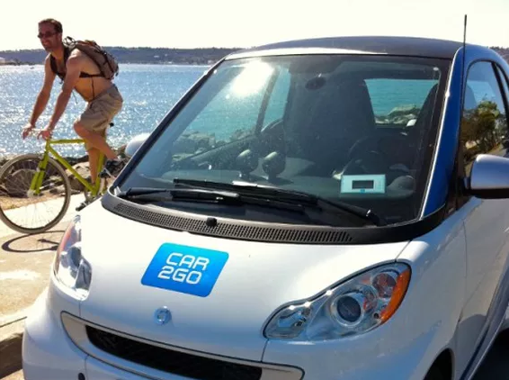 "Car2go ""rażone"" prądem w Kalifornii."