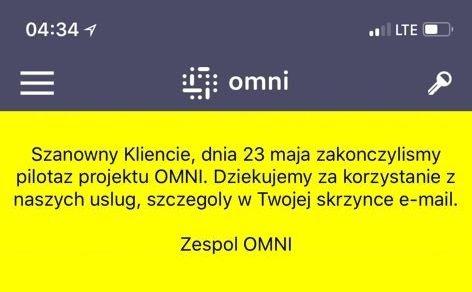 """Pilot OMNI """"odlatuje"""" z Warszawy"""