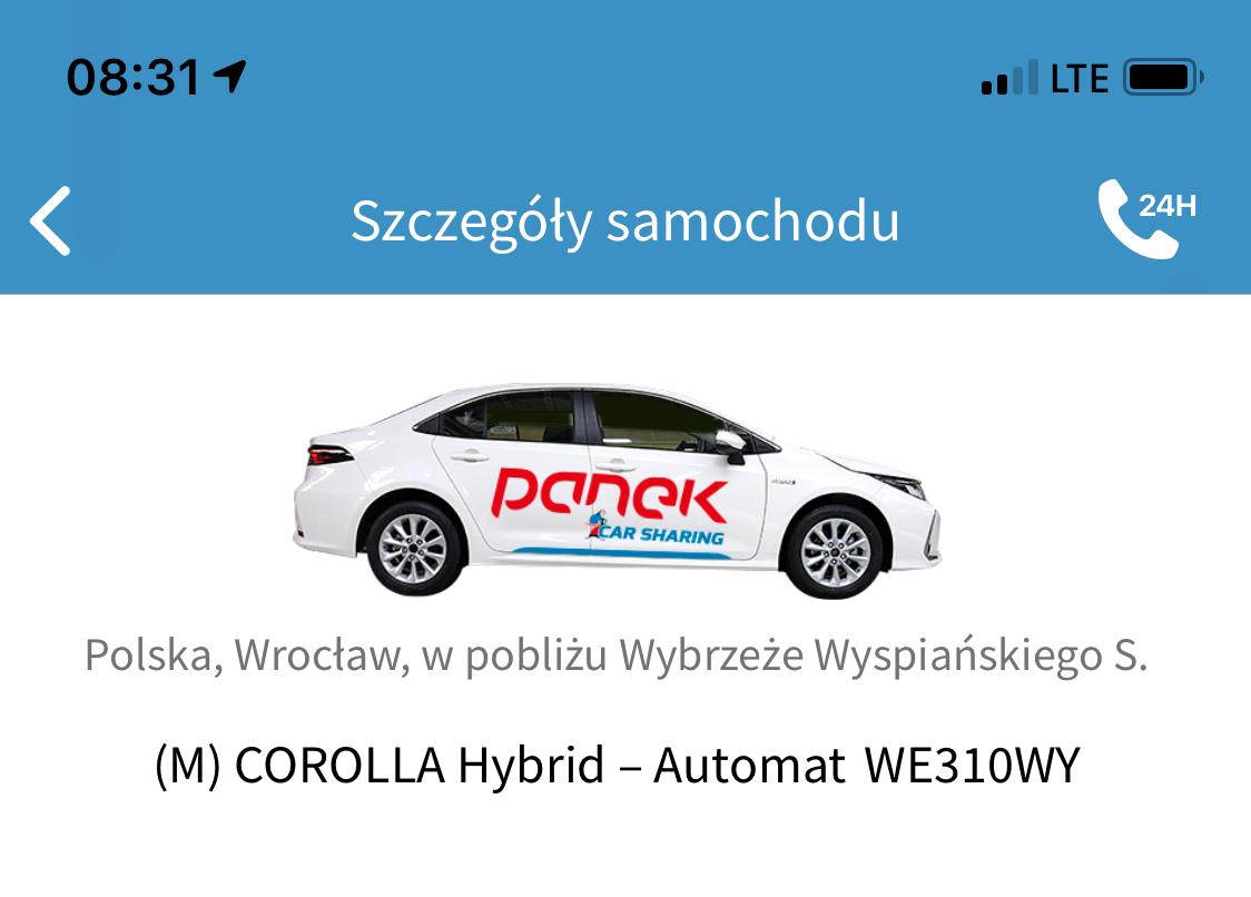 3x Wrocław <BR> Do Vozilli i Traficara dołącza Panek CarSharing.