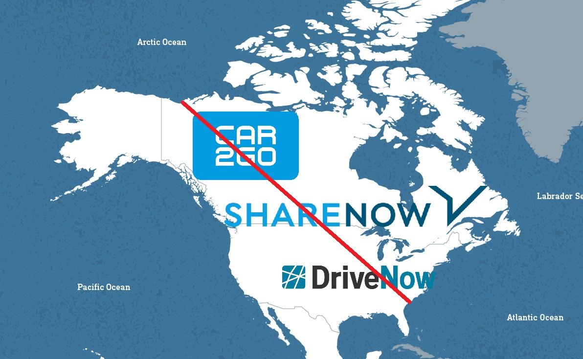 ShareNow opuszcza Amerykę Północną !! <BR>Co to oznacza?