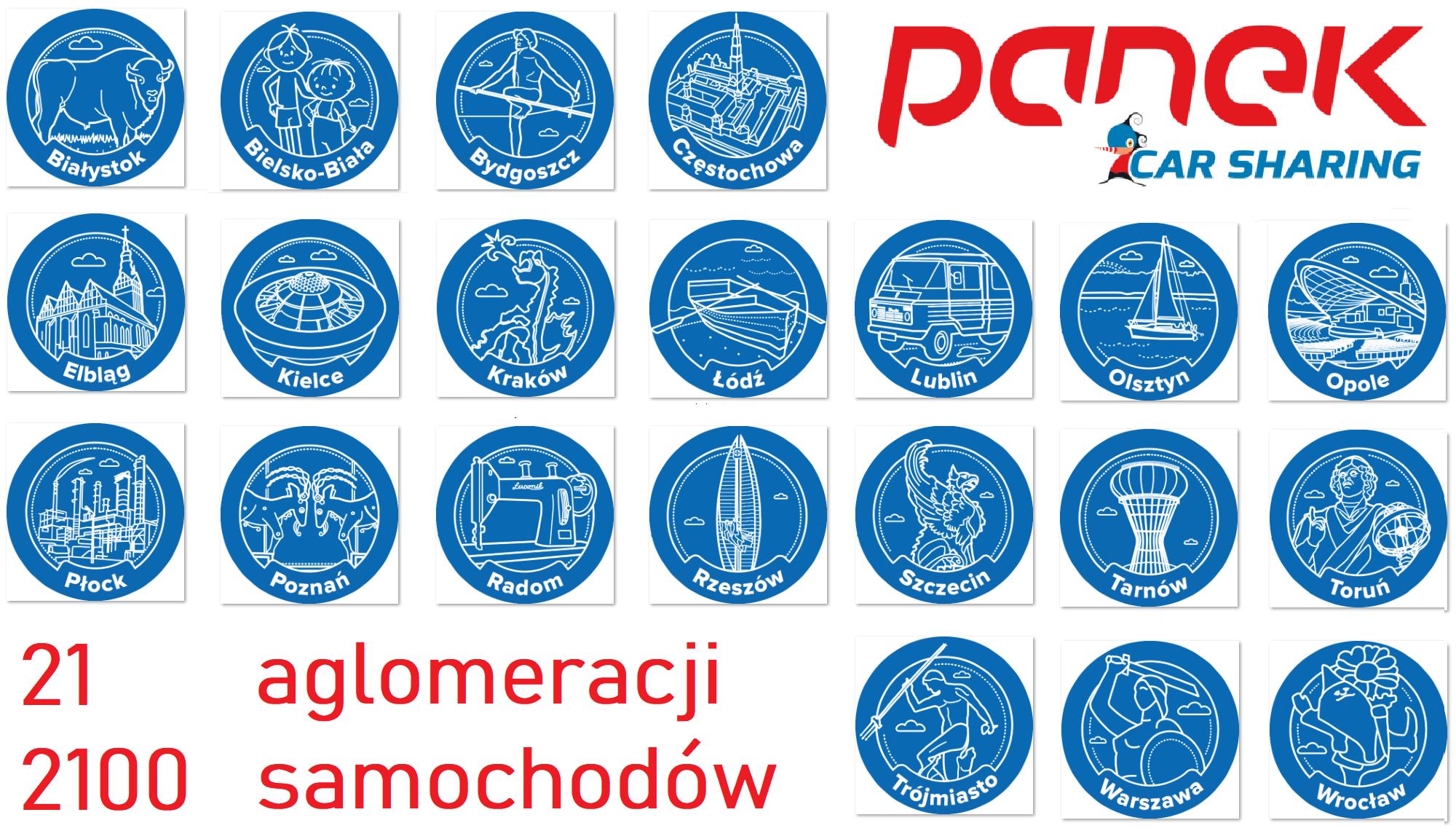 PKS, PKP… PANEK CarSharing.<br>Nowe 11 miast już w aplikacji!!