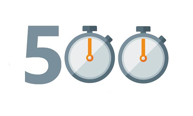 Szybko poszło.<br>Autonaminuty.org na 500!